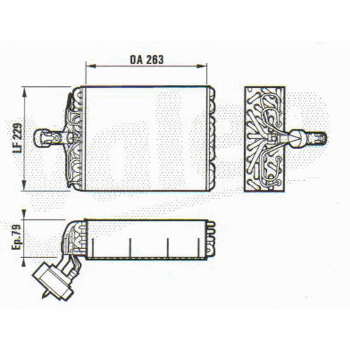 EVAPORATOR R134/135 263X228.6