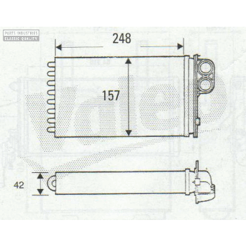 HEATER RADIATOR 248X157 BEHR