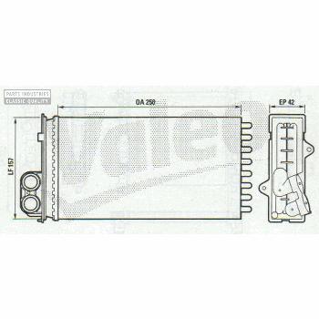 HEATER RADIATOR 250X157