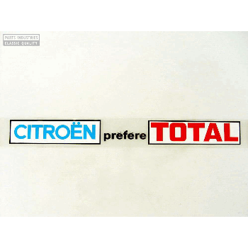 STICKER CITROEN PREFERE TOTAL