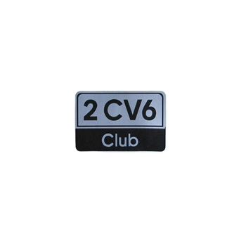 BADGE 2CV6 CLUB
