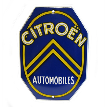 ENAMEL SIGN CITROEN AUTOMOBILE