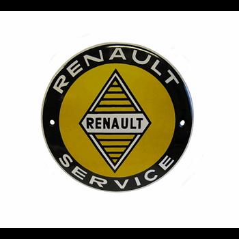 ENAMEL SIGN RENAULT SERVICE